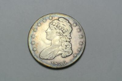 1836 Capped Bust Liberty Half Dollar, VF Condition - C7954