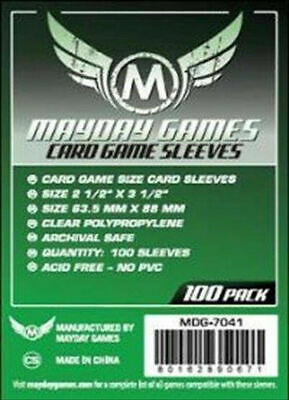 100 Bustine Protettive Sleeves Mayday Games 63.5x88 mm Buste Giochi Tavolo
