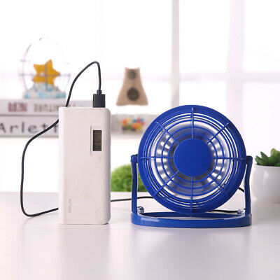 US HOT 4 Inch Mini USB Desk Fan Portable Fan 360° Up and Down for Home Office