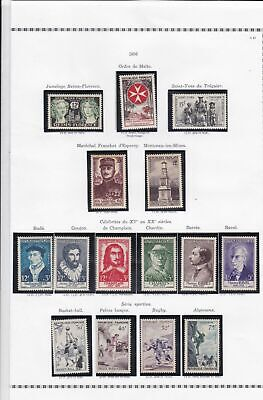 france 1956 stamps page ref 19803