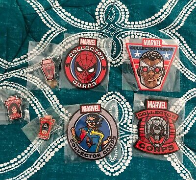 Funko Marvel Pop Collector Corps 4 Patches and 3 Pins lot