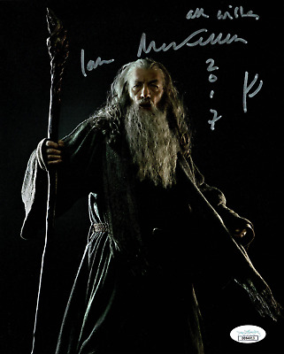 Ian McKellen signed autographed 8x10 photo! Gandalf! Lord of the Rings! JSA COA!