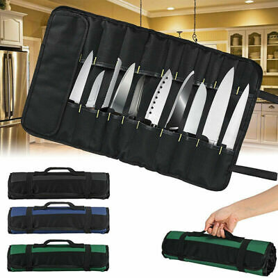 22 POCKET Chef Knife Roll Bag Knife Carry Storage Portable Carry Case Wallet