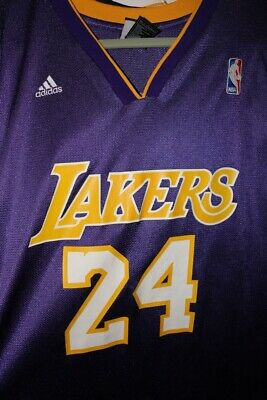 8c585312f Kobe Bryant Los Angeles Lakers  24 Jersey Large L adidas NBA Official  Genuine