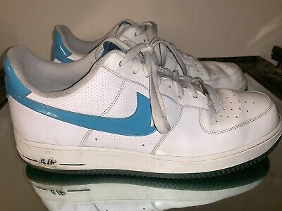 b514ba641dc1 Nike Air Force 1 Low  07 White Marina Blue Dark Obsidian Size 13 315122-