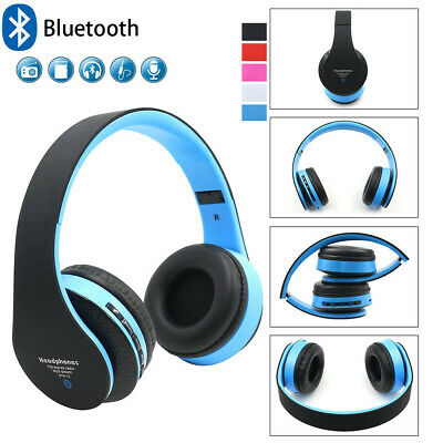 Wireless Headphones Bluetooth 4.1 Headset Noise Cancelling Over Ear With Mic