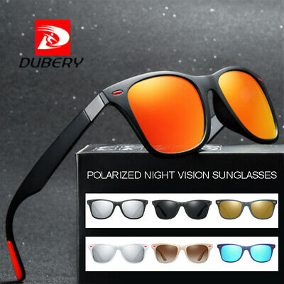 DUBERY Polarized Sunglasses Unisex Square Cycling Sport Driving Fishing UV400