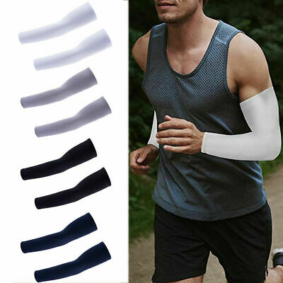 2Pair Cooling Arm Sleeves Sun UV Protection Compression for Men Women Arm Guard