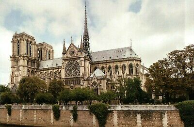 Notre Dame, Paris France, Catholic Cathedral, Gothic Architecture --- Postcard