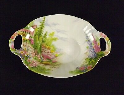 Royal Albert Kentish Rockery Bone China England Handled Candy Trinket Dish VGC