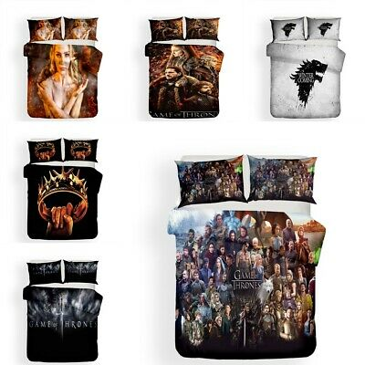 3D Game of Thrones Design Bedding Sets 2PC/3PC Of Duvet Cover&Pillowcase 4 Size