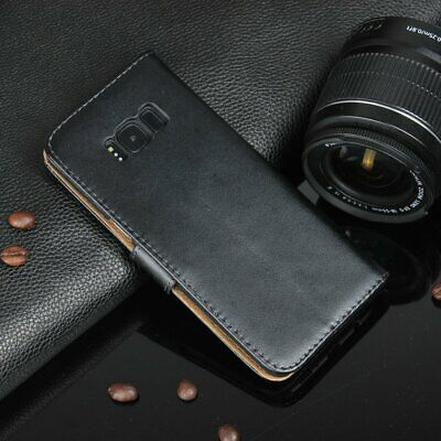 Dual Layers Genuine Leather Cover Flip Case Wallet Cover For Samsung S8 SF