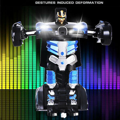 Gesture Sensing Remote Control Robot One Button Transformation Car Toys Gifts
