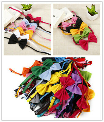 50 Pcs Wholesale Pet Dog Puppy Necktie Bow Tie Ties Collar Grooming out lot EUC