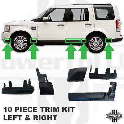 10ps bottom moulding trim kit for Discovery 4 plastic wheel arch wing door 3 ABS