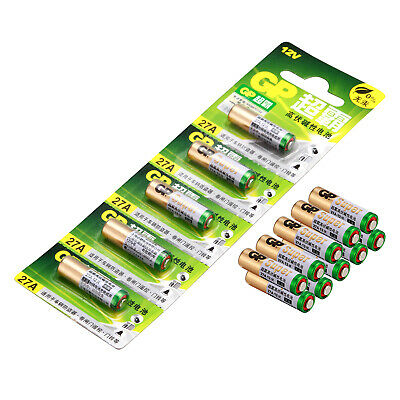 10PCS GP 27A  Alkaline Batteries 12V  Battery MN27 GP27A E27A EL812 L828 Battery