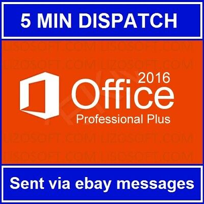 Microsoft Office 2016 Professional Plus 32/64bit  // LICENSE KEY + SOFTWARE