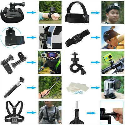 For GoPro Accessories Hero7/6/5/4/3 Bundle Camera Outdoor Sports Set Kit 36-in-1