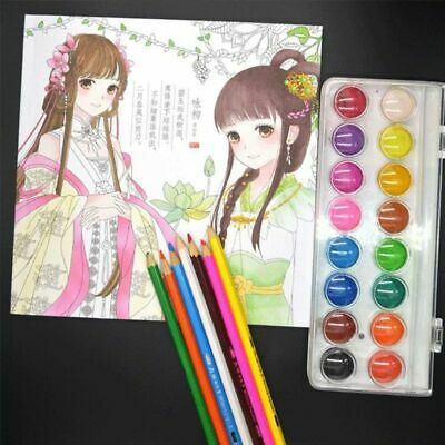 Kids Children Coloring Book Girls Ancient Style Drawing Books Graffiti Painting