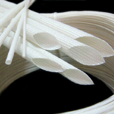 1mm~25mm Silicon Fiber Glass Insulated Tube Braided High Temperature Sleeving