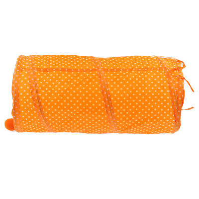 Pet Cat Yellow / Orange Collapsible Tunnel Cat Kitten Self Entertaining Toy