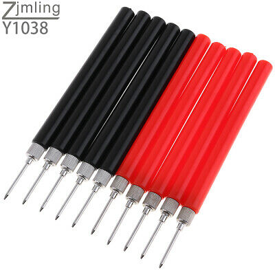 10x  Multi Spring Test Lead Extention Back Piercing Needle Tip Probes Tool Set