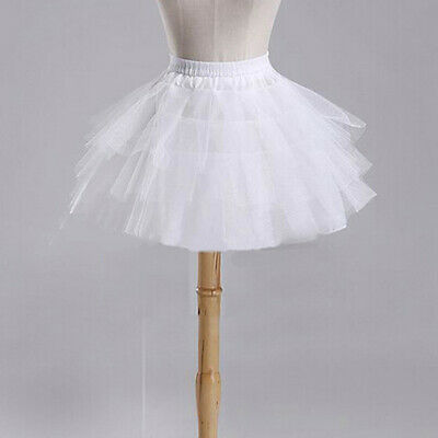 Fashion Bridal Wedding Dress Skirt Short Petticoat Crinoline Underskirt Tutu LC
