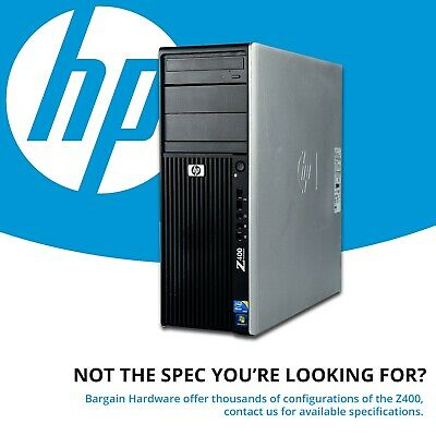 HP Z400 Workstation Intel Xeon Hex 6 Core Quadro Graphics 16GB RAM CAD Tower PC