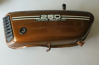Yamaha Öltank braun RD250 352 torque induction oil tank Original sehr gut