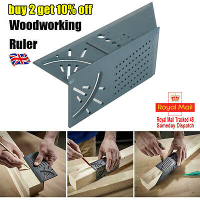 3D Measuring Tool Gauge Ruler Square Mitre Angle Size Measure For Wood working.