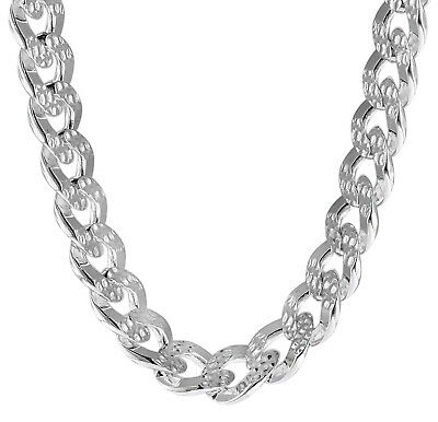 Trendor Jewellery Necklace for Men 925 Silver Curb Chain Wide 9,7 mm 08795