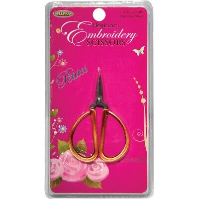 "Sullivans Heirloom Petites Embroidery Scissors 2.25""-gold"