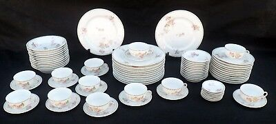 Rare Antique 77-Piece Dinnerware Set, DuBarry BB&F Limoges, LaSeynie Limoges P&P