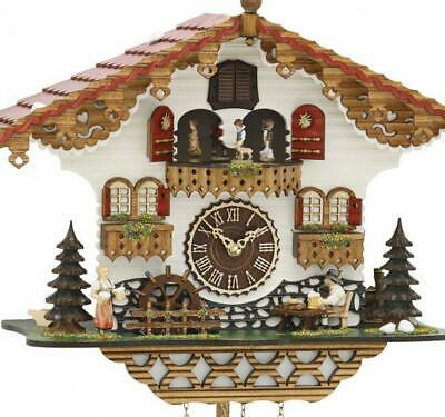 Chalet cuckoo clock with quartz movement and music (with moving beer drinker / .