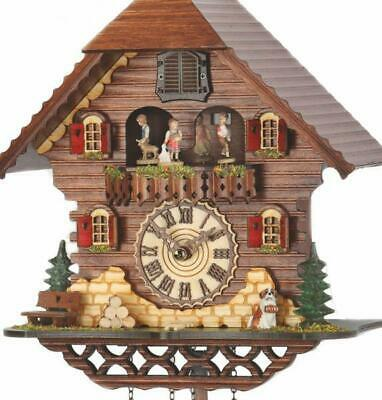 Chalet cuckoo clock with quartz movement and music (with moving dancers), 469 ..