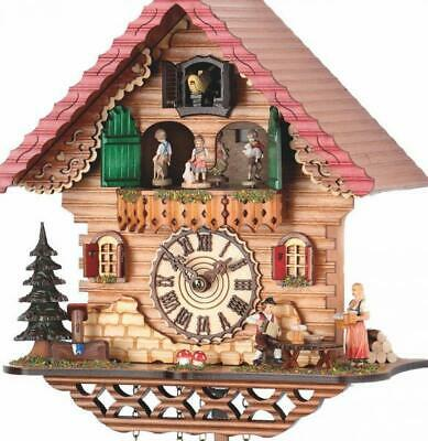 Chalet cuckoo clock with quartz movement and music (with moving dancers), 474 ..