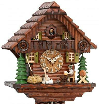 Exclusive chalet cuckoo clock with mechanical 8-days-movement and moving beer ..