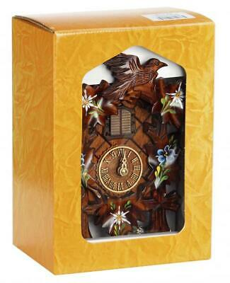 Hand painted, cuckoo clock carved style with quartz movement and music with ...