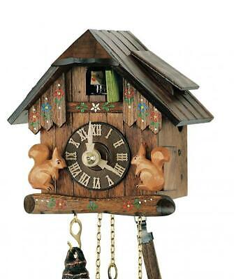 Hand-carved small chalet cuckoo clock with mechanical 1-day-movement, 65/004 V