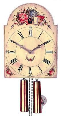 Hand-painted shield cuckoo clock with mechanical 8-days-movement, 3583