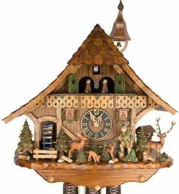 Imposant chalet cuckoo clock with mechanical 8-days-movement and music (with ...