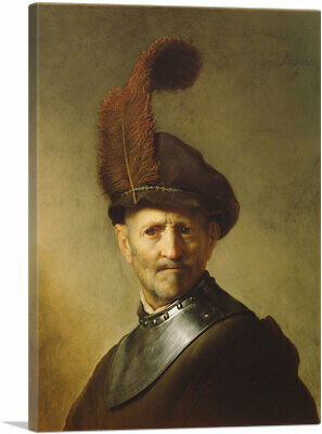 Old Man In Military Costume 1631 Canvas Art Print by Rembrandt van Rijn