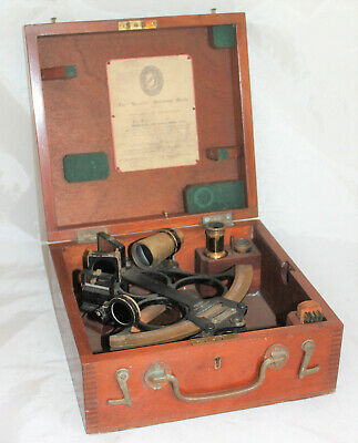 Heath & Co. London Hezzainth Three-Circle Sextant in Case, Dated 1951
