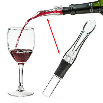 New Spout Acrylic Decanter Wine Pourer Aerating Aerator Bar Tool