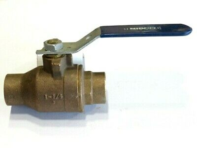 "1-1/4"" NIBCO Bronze 600CWP Sweat End Ball Valve NEW"