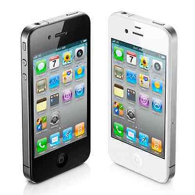 "Apple iPhone 4S 8GB ""Factory Unlocked"" iOS WiFi Black and White Smartphone"