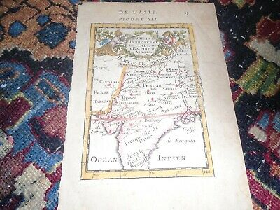 Antique Map of India out of book De Asia page 96. hand tinted  dont know how old