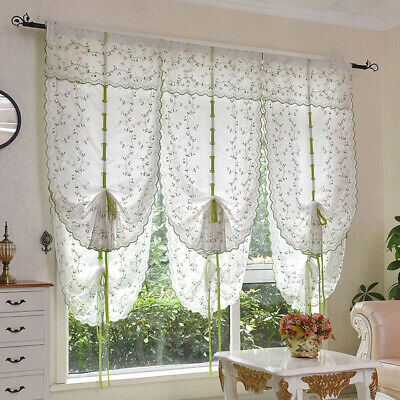 Tie Up Curtain for Window Balloon Shades Window Treatment Valance Kitchen