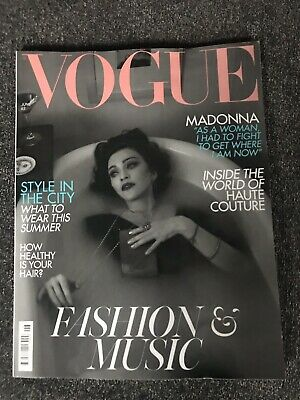 **Madonna - Uk Vogue Magazine 2019 - Excellent Condition**