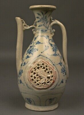 Ming HOI AN HOARD PITCHER JUG Shipwreck Pottery Ceramic Vietnam Chinese c1490